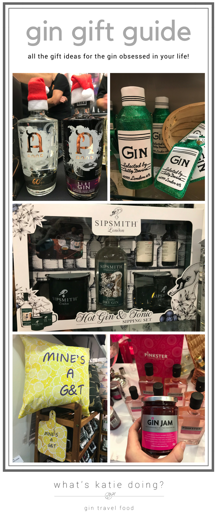 gin gift guide on What's Katie Doing? blog - everything you need for the gin obsessed in your life!