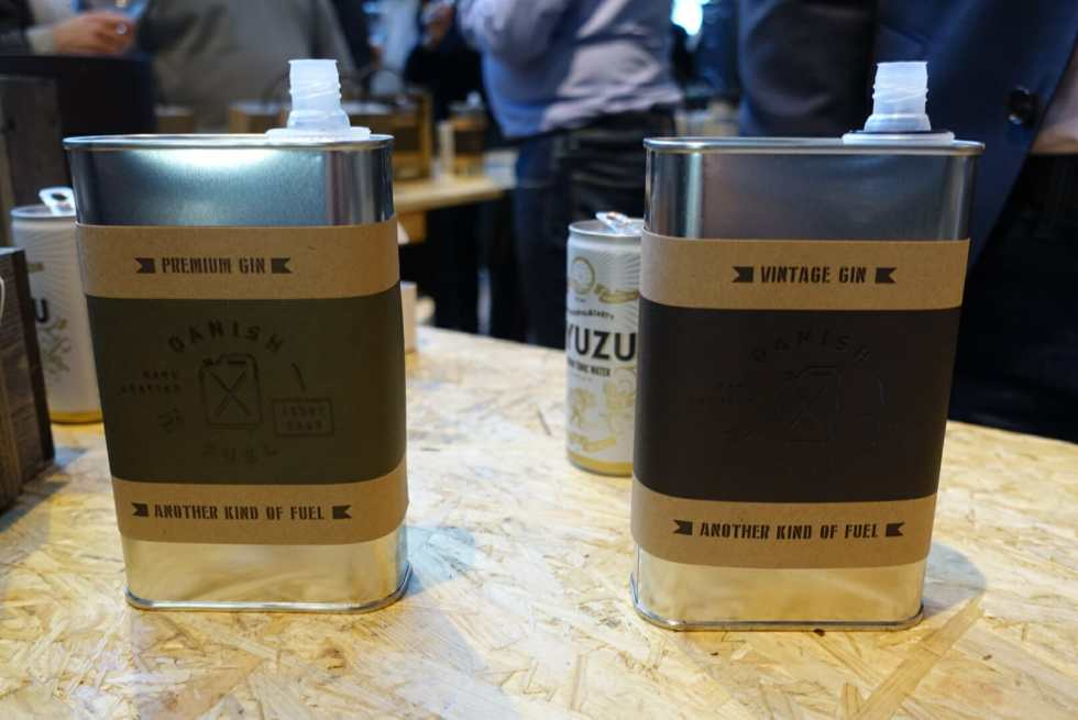 Danish Fuel gin served in cans!
