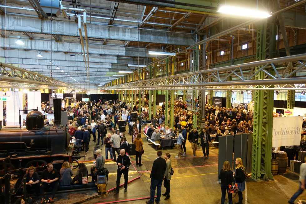 The exhibition space in Copenhagen for the gin festival