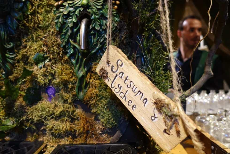 Satsuma & Lychee was the non-alcoholic option from the magic tree