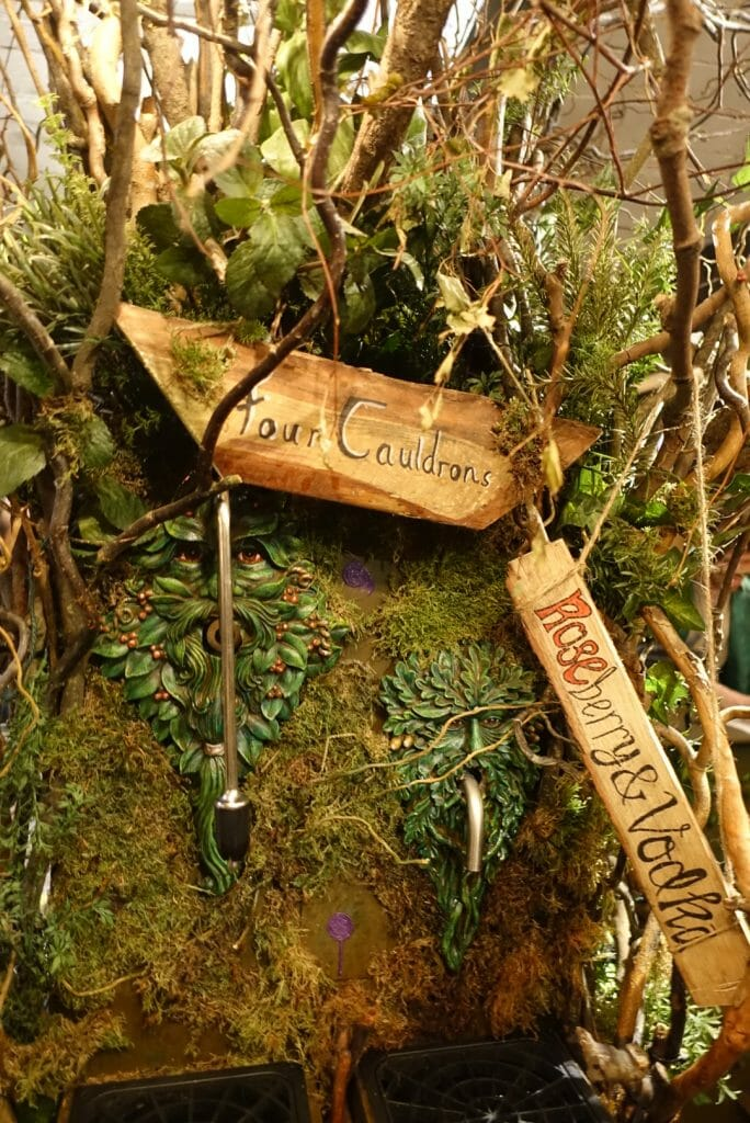 The magic tree where a tap of your wand releases your drink of choice