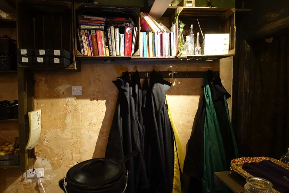 Wizard robes hanging up