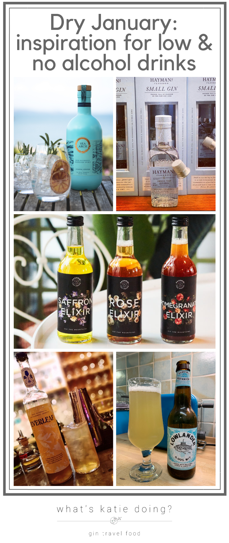 Dry January - inspiration for low and no alcohol drinks