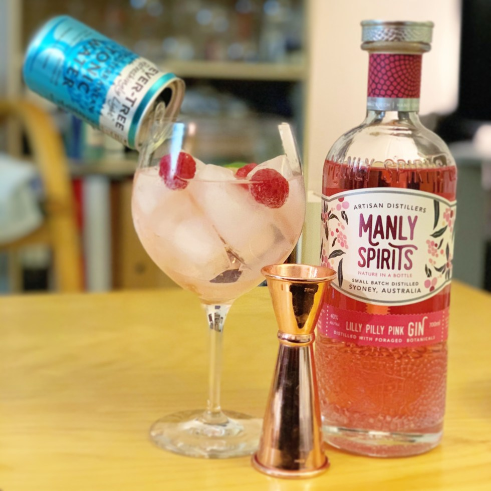 Manly Spirits Lilly Pilly gin and tonic serve