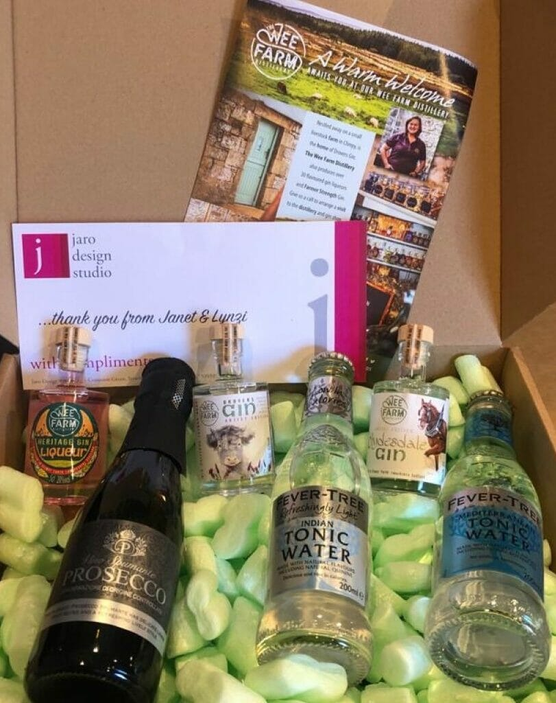 The Wee Farm gin tasting set from Jaro Design