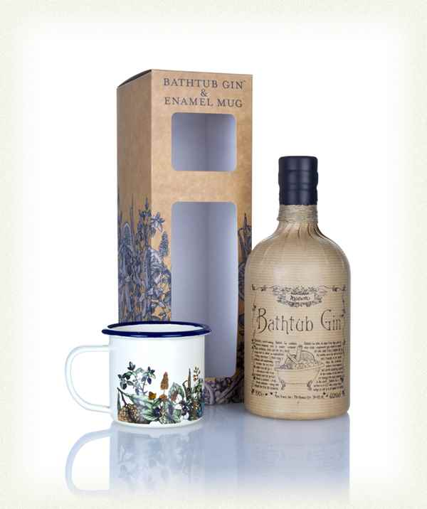 Bathtub gin enamel mug gift pack