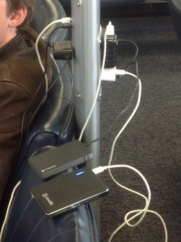charging stations are a welcome sight when traveling