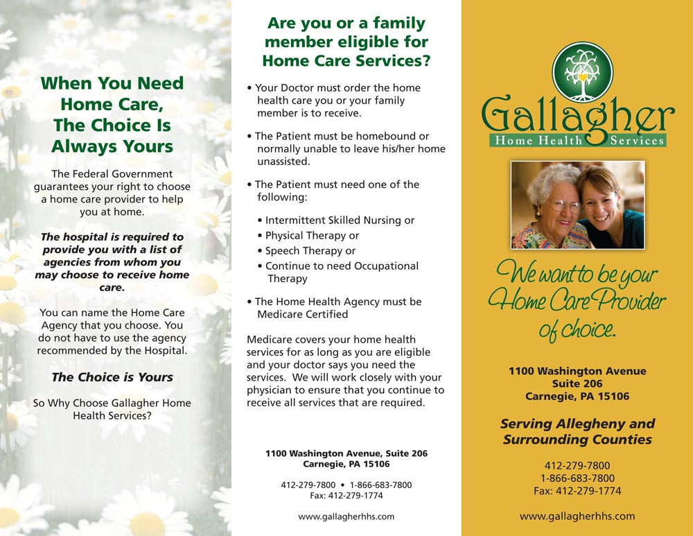 Gallagher Home Health Care Flyer What's New In