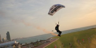 Skydive world record in Dubai