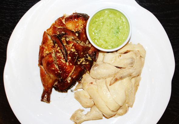 Roasted & Poached Chicken with Garlic