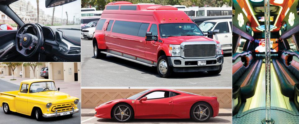 Cool car rentals in Dubai - limo, luxury, retro