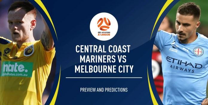 Central Coast Mariners VS Melbourne City