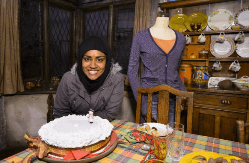Great British Bake Off winner Nadiya Hussain was seen checking out Mrs Weasley's baking!