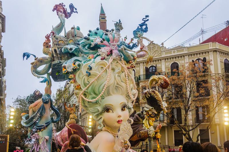 Las Fallas Valencia Spain