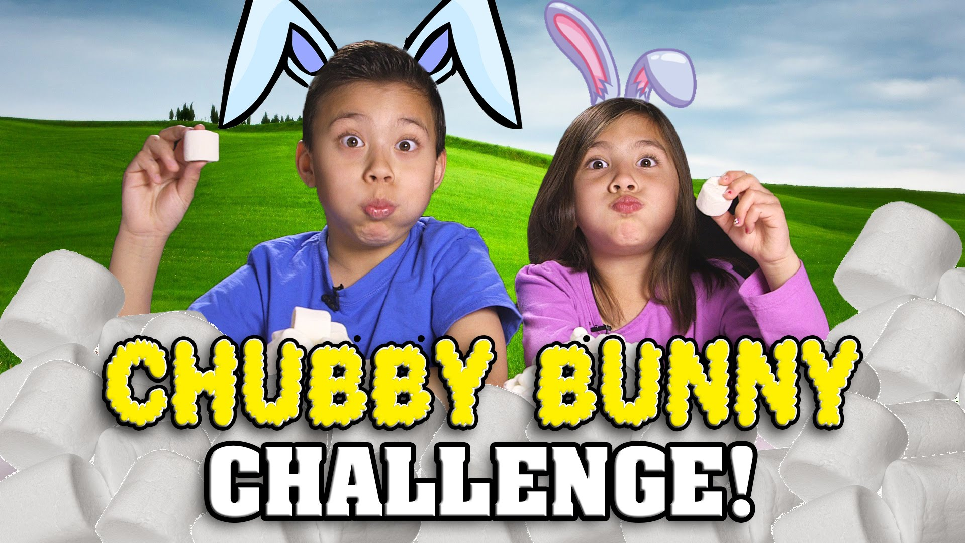 CHUBBY BUNNY CHALLENGE! Marshmallow Stuffing Contest! – Whats That Challenge