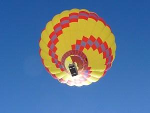 cost hot air balloon ride