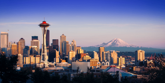 Seattle Washington Cityscape Photo Image