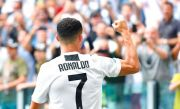 (Alessandro Di Marco/ANSA via AP). Juventus' Cristiano Ronaldo celebrates after scoring during a Serie A soccer match between Juventus and Sassuolo, at the Allianz Stadium in Turin, Italy, Sunday, Sept. 16, 2018.