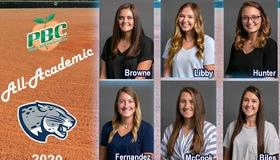 Augusta Softball Has Six Honored on PBC All-Academic Team