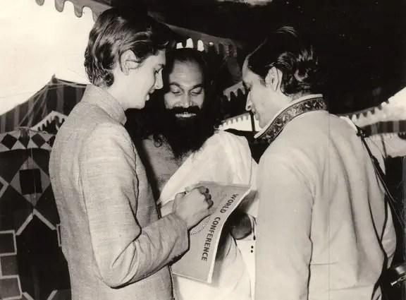 John Hills with Dhirendra Bhramachari