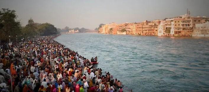 Bathing in River Ganges