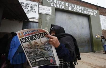 DEATH TOLL IN BOLIVIA PRISON CLASH RISES TO 31