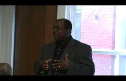 Urban summit meeting Mark Miller speaking about mental health