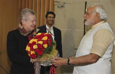 US AMBASSADOR MEETS INDIA'S OPPOSITION LEADER