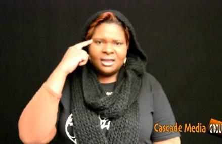 Poet Tyree N'Spyre Thomas recites her Poem Oz