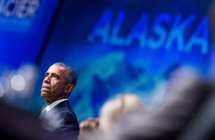 Obama paints doomsday scene of global warming in Alaska