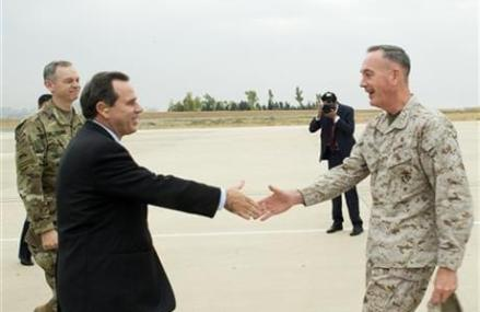 New Joint Chiefs chairman looks over war zone in Iraq