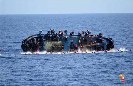 EU: Some 20 bodies spotted as migrant boat sinks off Libya