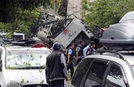 Car bomb attack targeting police kills 11 people in Istanbul