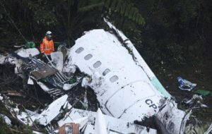Brazilian soccer team's plane crashes in Colombia; 75 dead