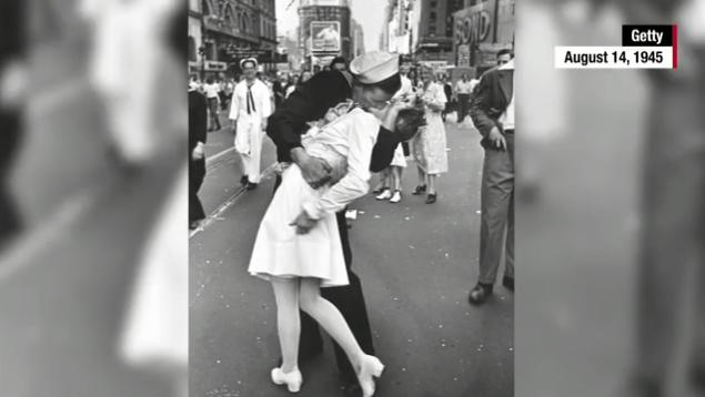 Kissing Sailor
