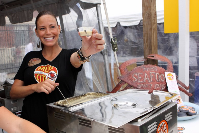 Chowder Cook-Off - Mud City Sample - Credit Kate Whitney Lucy