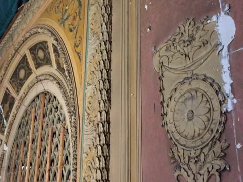Decorative details on the interior walls will be restored to original vaudevillian style.