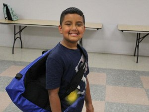 "When Ramon received his Back2School supplies, he burst out with this huge grin and said ""I'm going to have the best year because of this backpack!"""