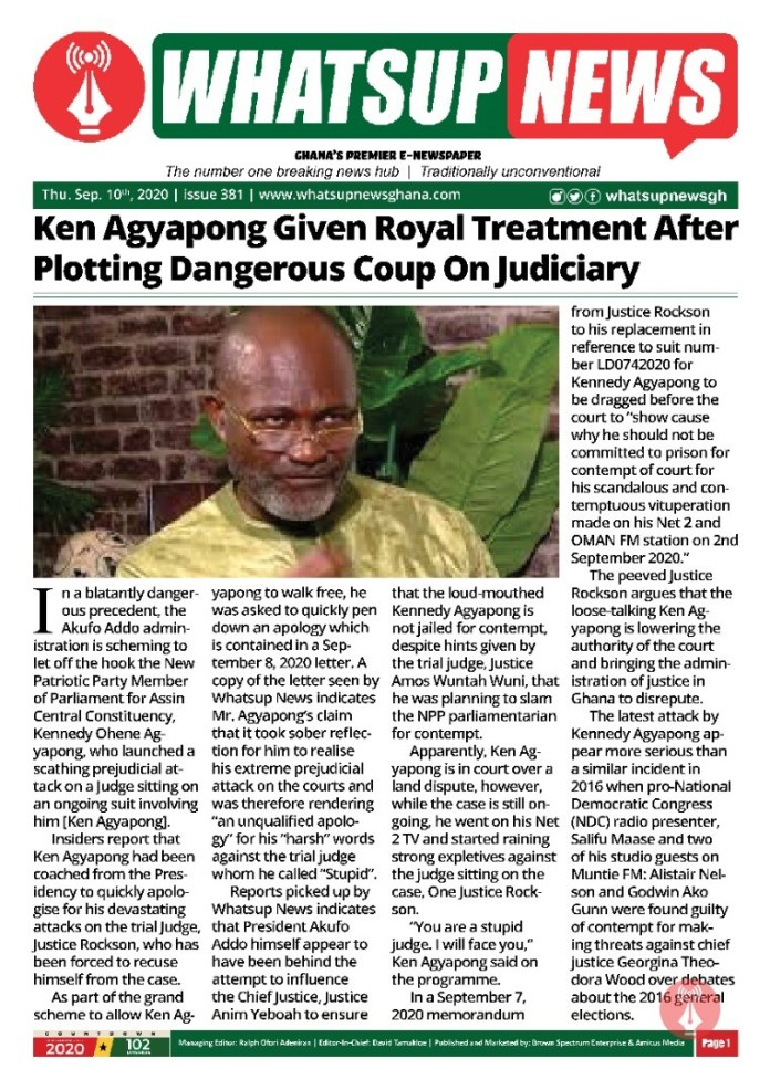Ken Agyapong Given Royal Treatment After Plotting Dangerous Coup On Judiciary