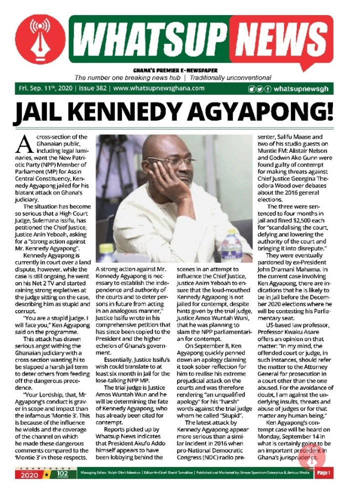 Jail Kennedy Agyapong!