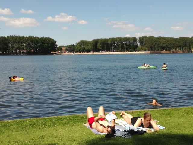 Outdoor swimming at Amsterdam Sloterplas