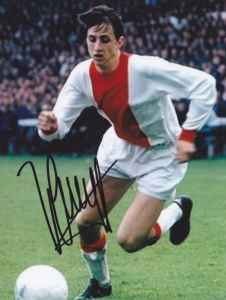 Famous Dutch player Johan Cruijff.