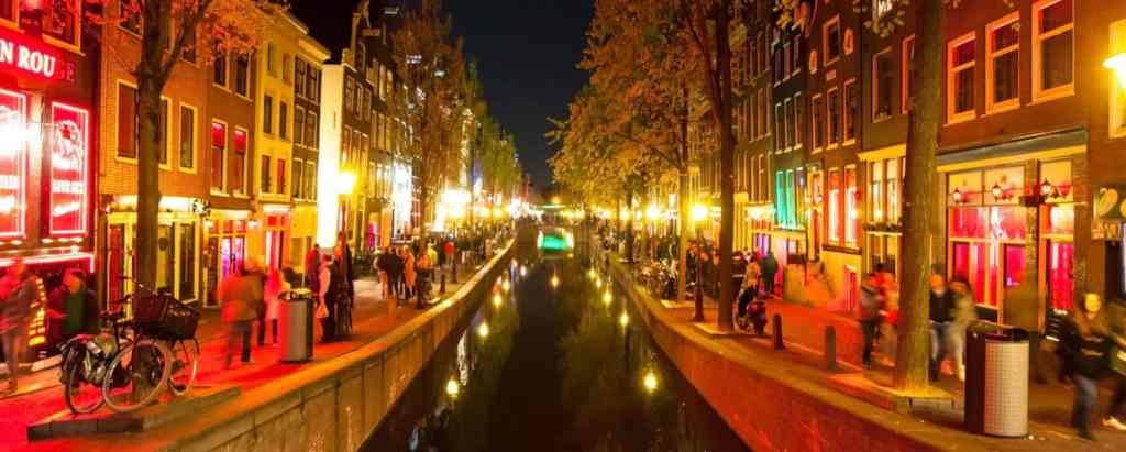 The red light district in Amsterdam is not the safest area in Amsterdam.