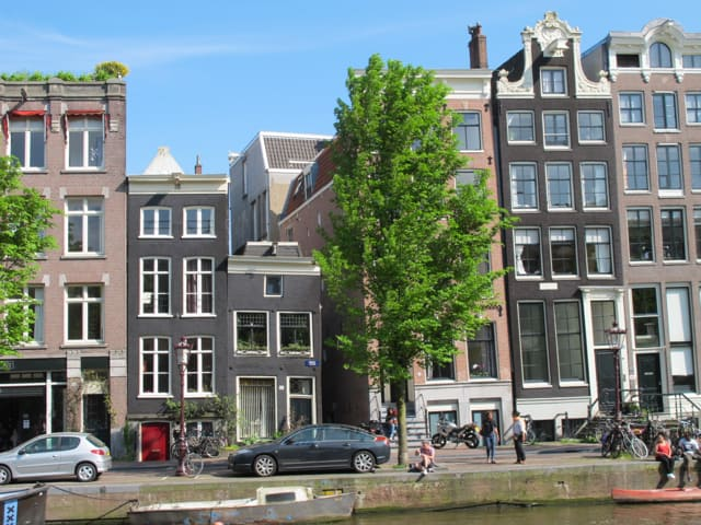 Tilted house in Amsterdam