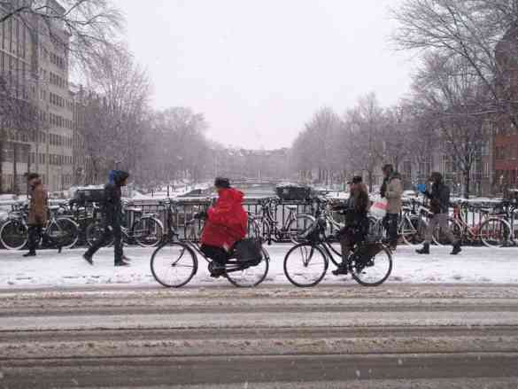 Winter in Amsterdam cold