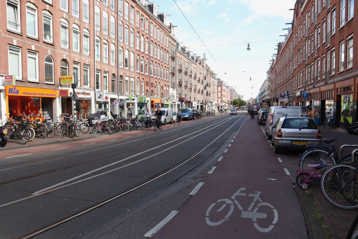 Kinkerstraat Amsterdam bike lane