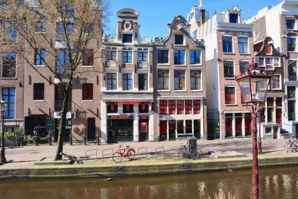 Red Light District Amsterdam during Corona