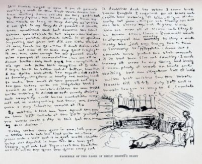 Facsimile of Emily's diary entry (1848)
