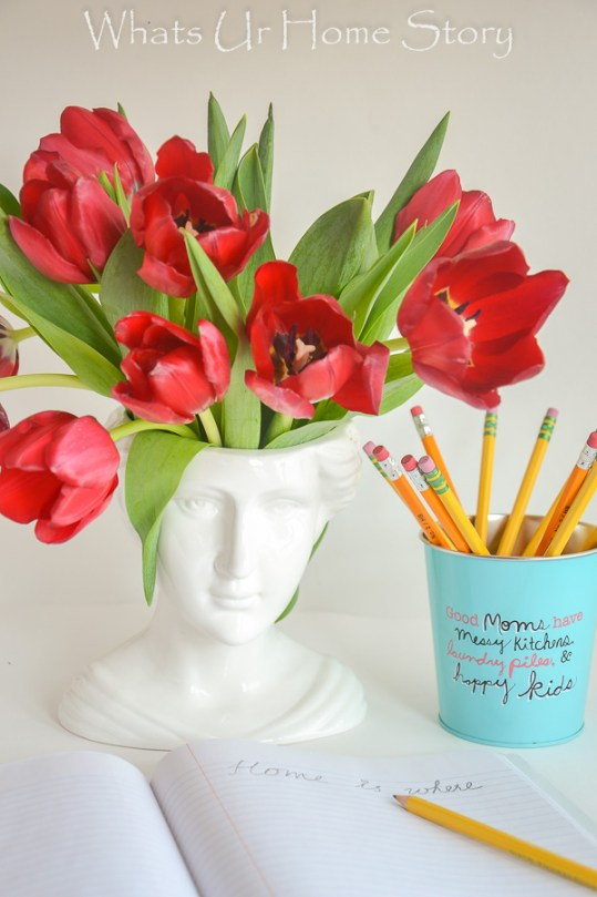 Home is where the heart is -red tulips-0264