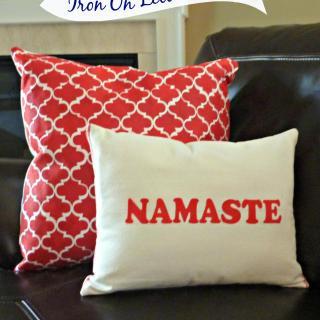 DIY Pillow Using Iron on Letters – Namaste Pillow